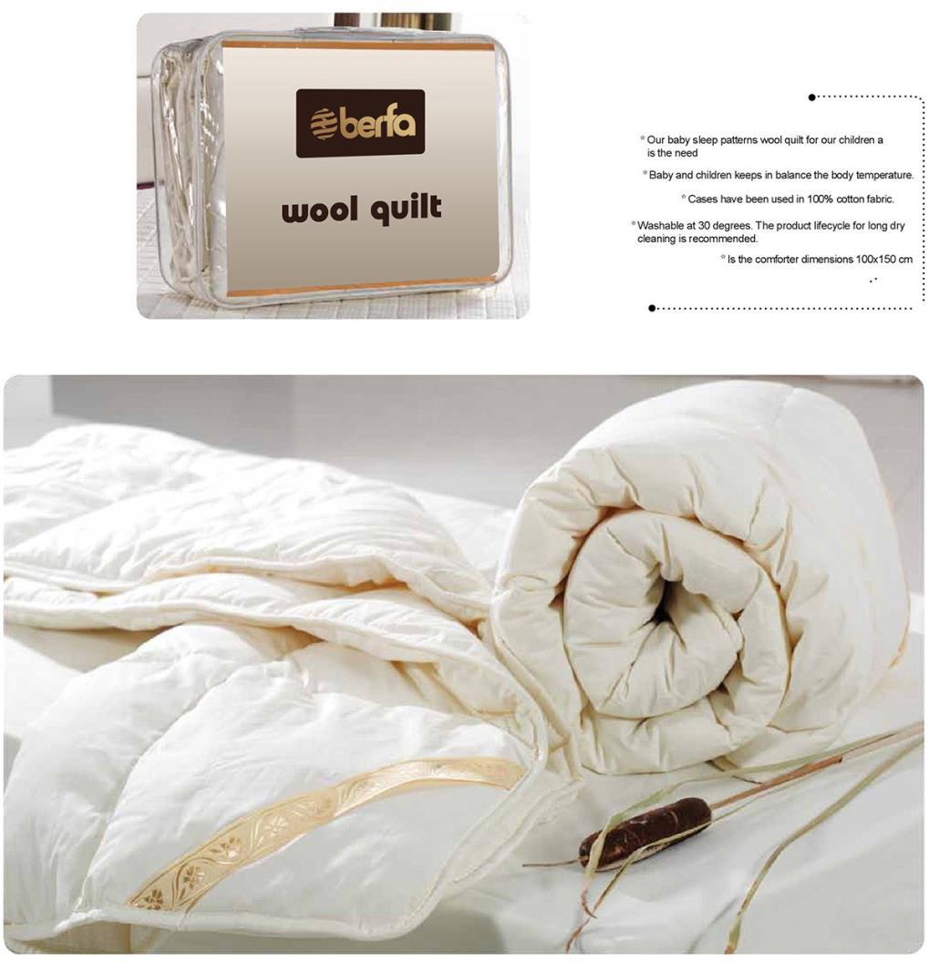 Lotus Wool Baby Quilt